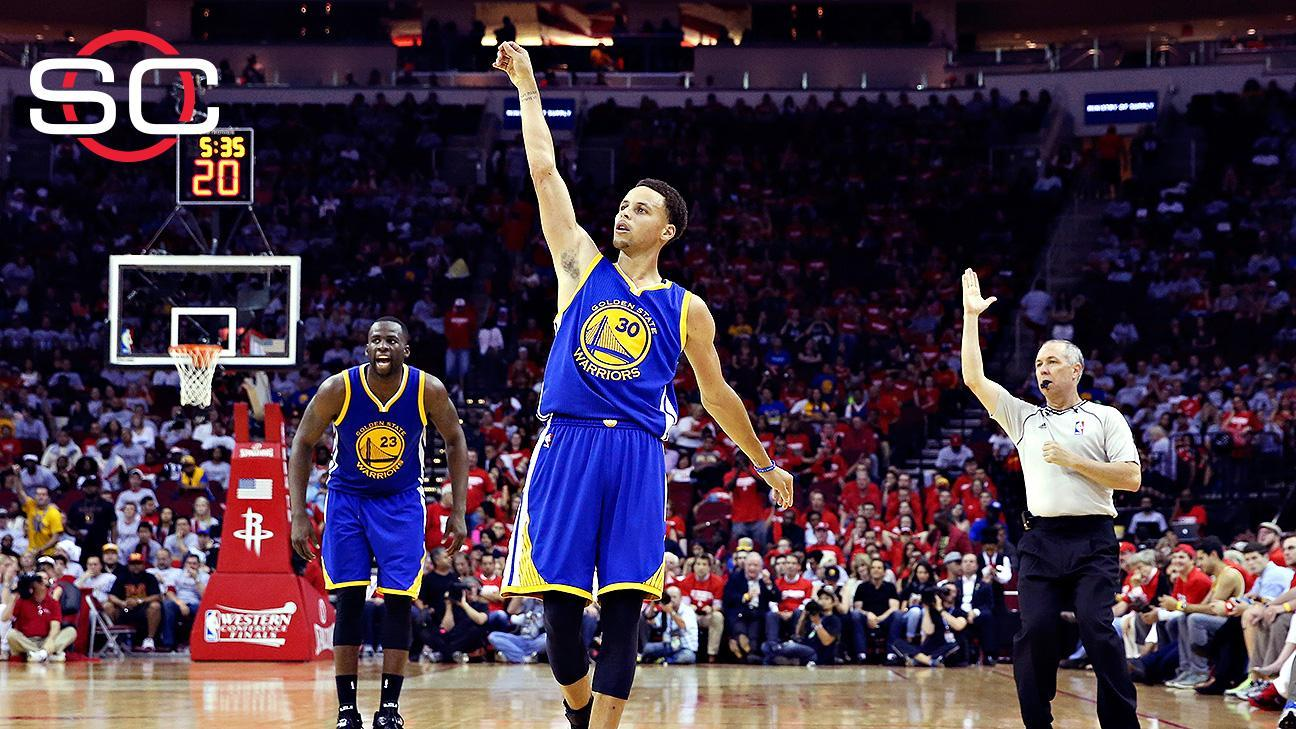 Curry, Warriors blow out Rockets in Game 3