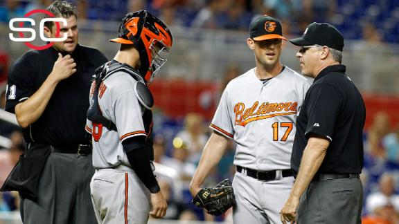 Brian Matusz appeals after getting 8-game suspension
