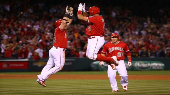Pujols, Angels walk off