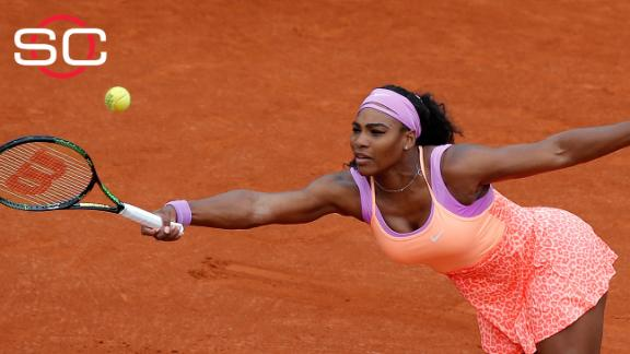 Serena escapes second round