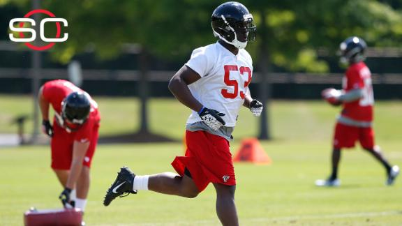Shembo charged in dog's death, cut by Falcons