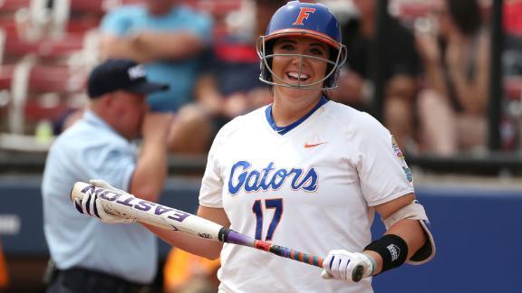 Florida's Haeger blasts HR in WCWS finals