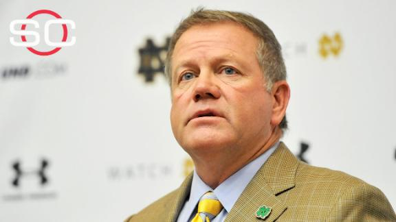 Kelly: Notre Dame players at-risk academically