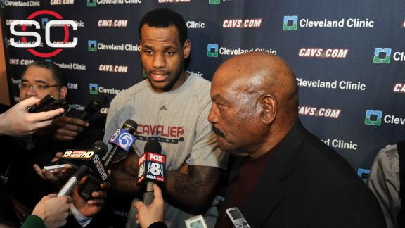 LeBron talks salute to Jim Brown