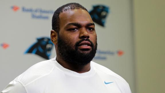 Michael Oher in spotlight for Panthers