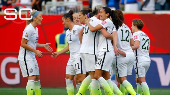 Team USA getting ready for Nigeria