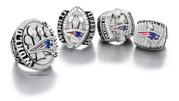 Patriots receive their Super Bowl rings