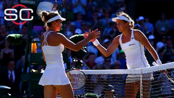 Simona Halep upset at Wimbledon