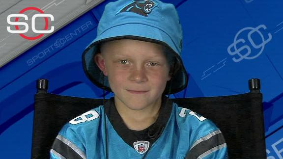 Video - Young Panthers fan to coach at fan fest