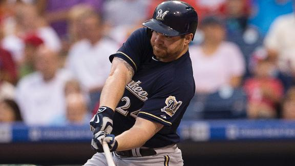 Brewers edge Phillies in extra innings