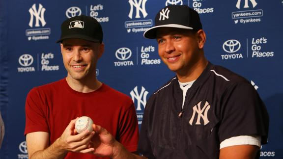 Zack Hample presents A-Rod with 3,000th hit ball