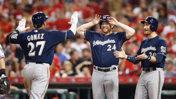 Brewers crush Reds