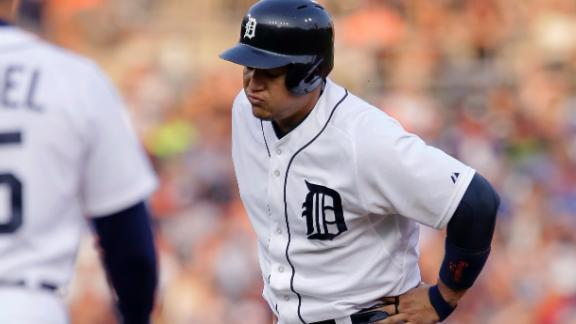 Tigers' Cabrera on DL for first time in career