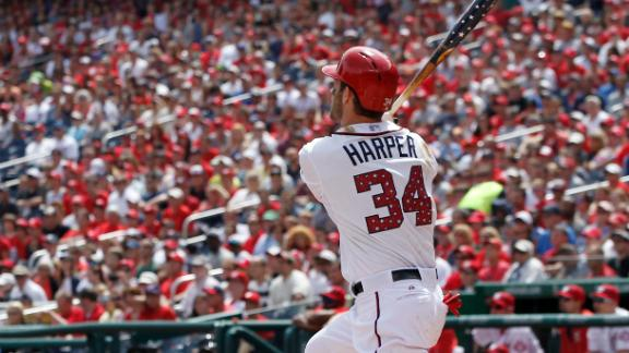Strasburg exits, Harper's bat lifts Nats