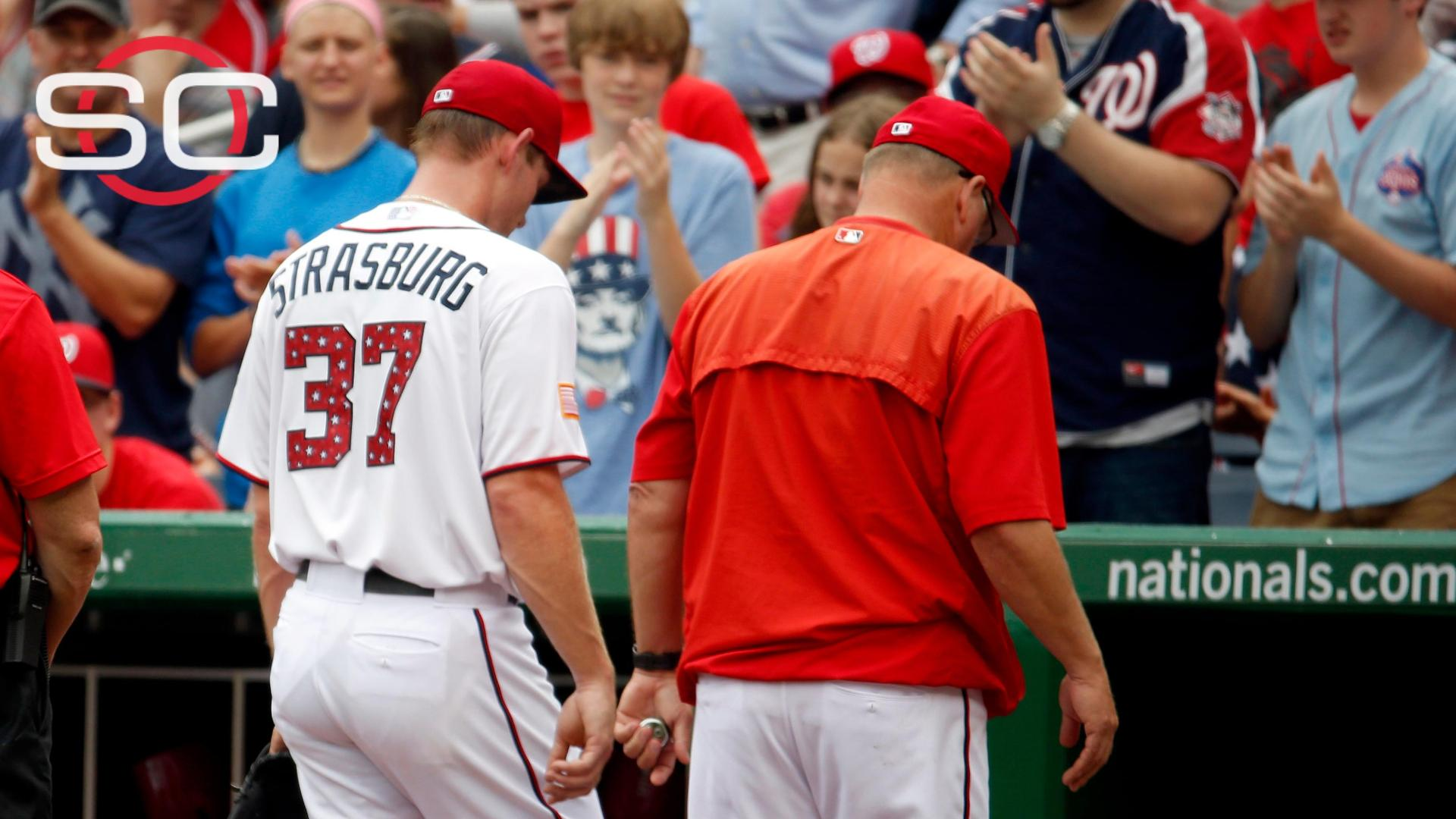 Nats put Strasburg on DL with left oblique strain