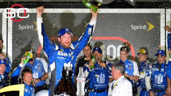 Dale Jr. wins at Daytona, race ends in wreck