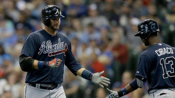 Pierzynski fuels Braves past Brewers