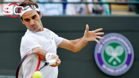 Federer advances to 10th Wimbledon semis