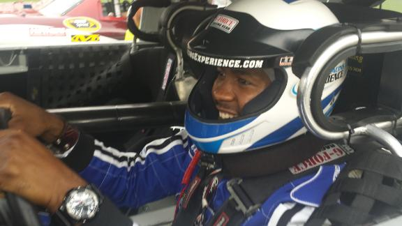 NFL player turns NASCAR driver