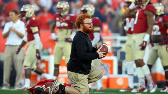 Video - FSU ballboy Red Lightning gets internship with Falcons