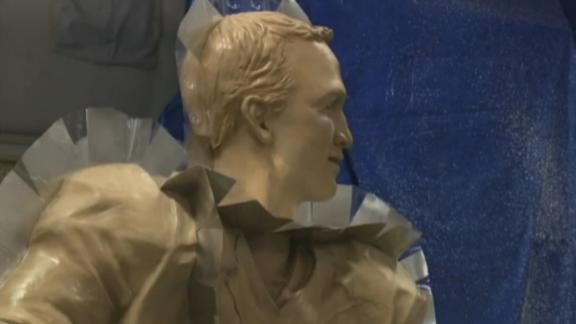 I salute Manning's chocolate statue