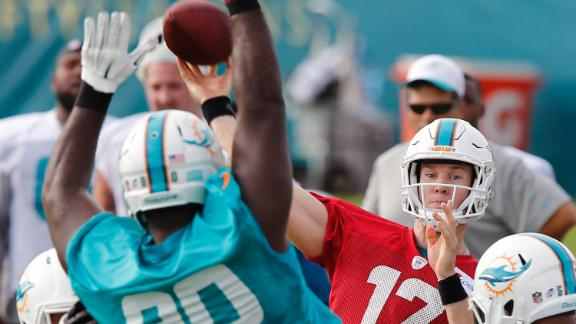 Dolphins' offensive line struggling in camp