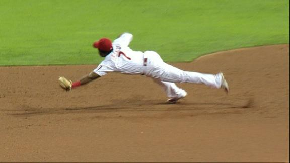 Franco's diving grab