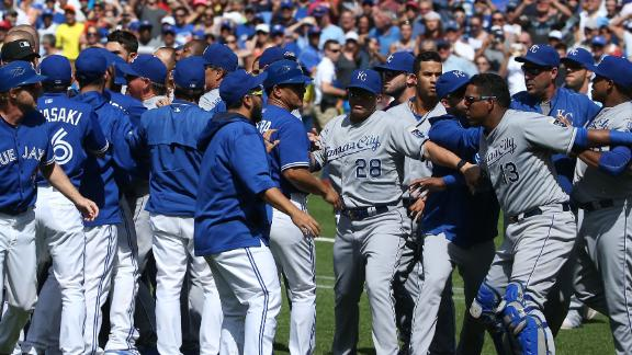 Jays' Sanchez, Gibbons suspended for KC fracas