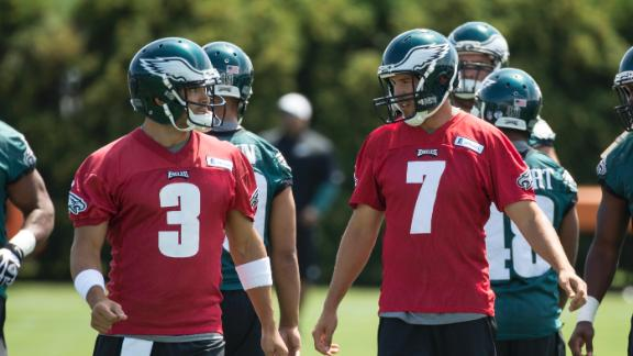 Eagles QBs on getting reps