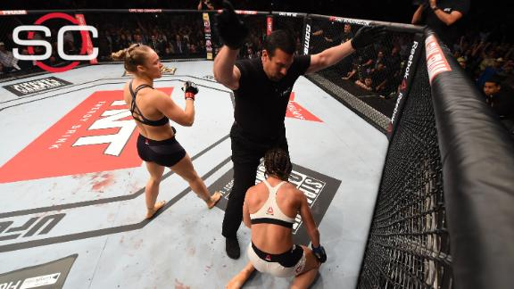 Ronda Rousey knocks out Bethe Correia in 34 seconds of UFC 190