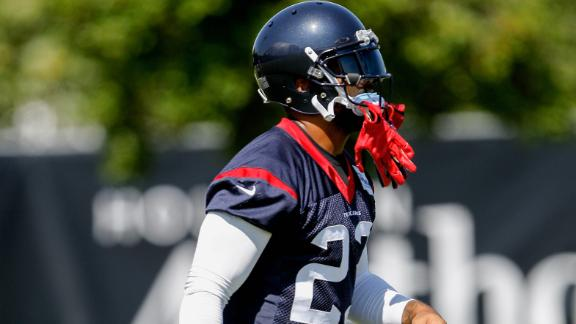 Texans' first padded practice is time to shine for running backs
