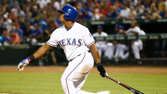 Rangers' Beltre ties MLB mark with third cycle