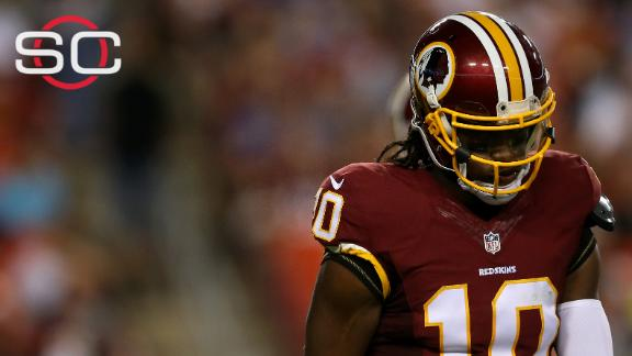 RG III caught off-guard by not being able to play