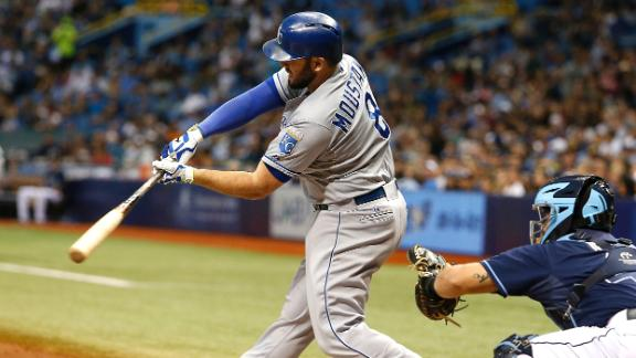 Moustakas knocks in three runs in win