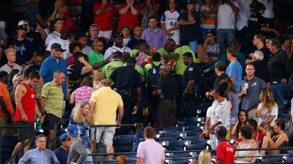 Braves fly U.S. flag at half-staff after fan death
