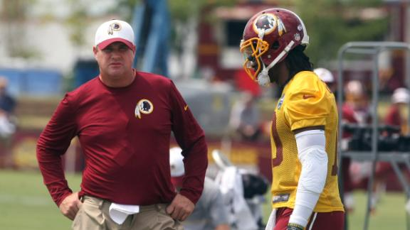 Robert Griffin III blames intern for Instagram 'like' on post that ripped Redskins