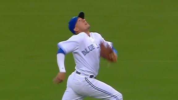 Goins takes off for catch