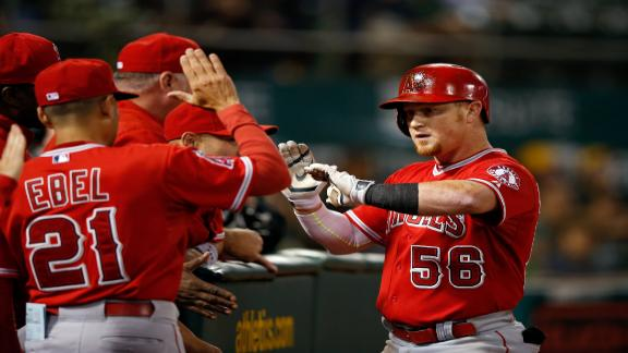 Angels cruise past A's