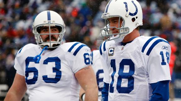 Peyton Manning reflects on the good ol' days when Jeff Saturday had a face for radio