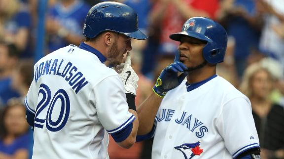 Encarnacion, Donaldson drawing comparisons to Ruth and Gehrig