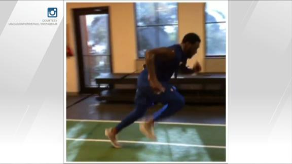 JPP back on the workout grind