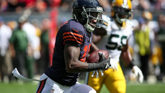 Bears' Jeffery questionable for Sunday after setback