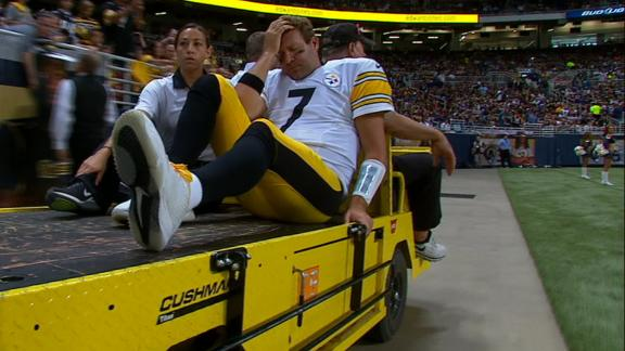 Roethlisberger carted off with left knee injury