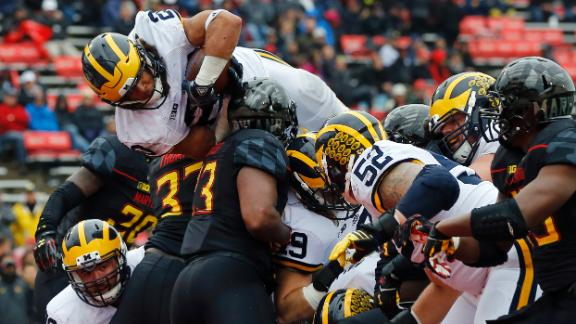Michigan shuts out Maryland in the rain