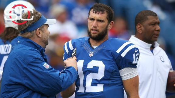 Colts' Andrew Luck out against Jaguars with shoulder injury