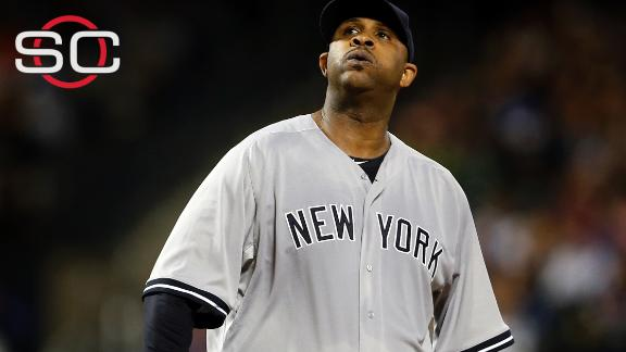 Sabathia off postseason roster after checking into alcohol rehab