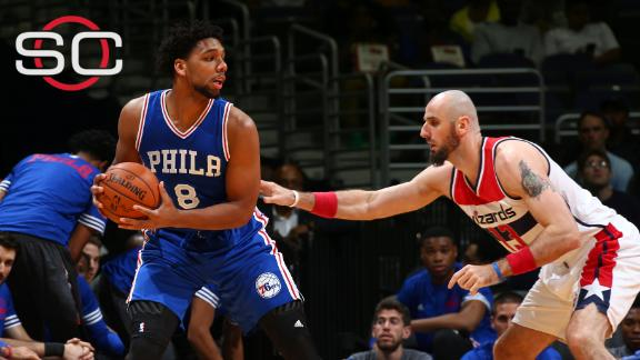 Jahlil Okafor scores 12 in preseason loss