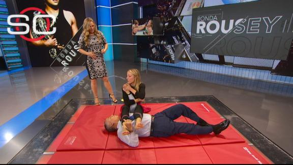 Rousey teaches Kurkjian, Czarniak an armbar