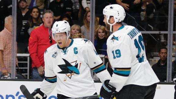 Sharks make easy work of Kings in opener