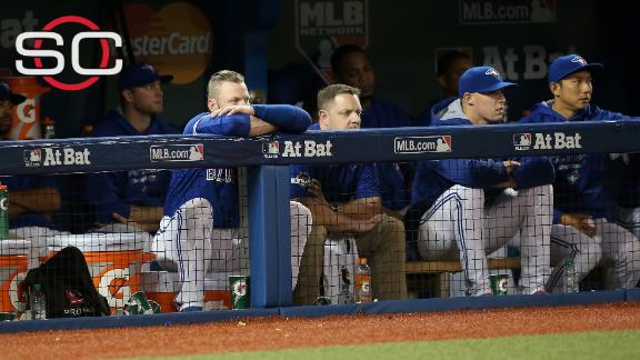 Blue Jays in trouble, down 2-0
